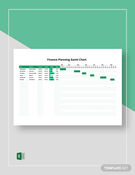 Finance Planning Gantt Chart Template