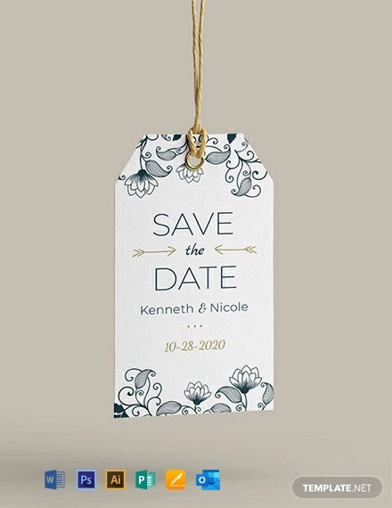 Free Wedding Invitation Tag Template