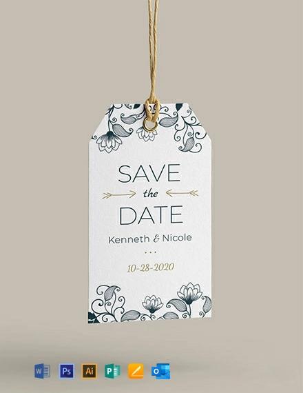 Free Wedding Invitation Tag Template