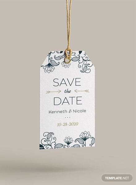 Wedding Invitation Tag Template