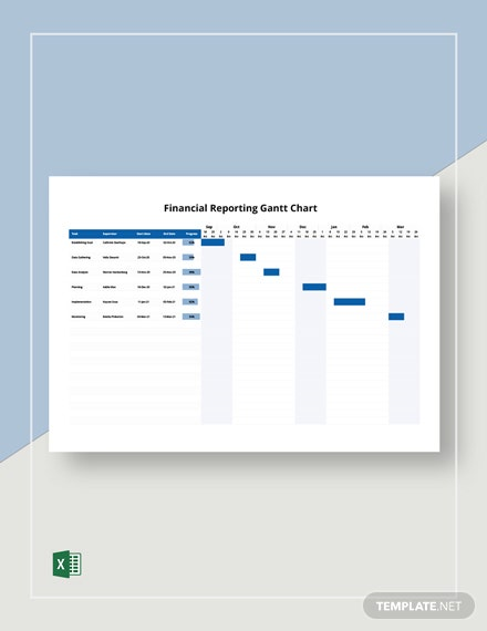 Financial Reporting Gantt Chart Template