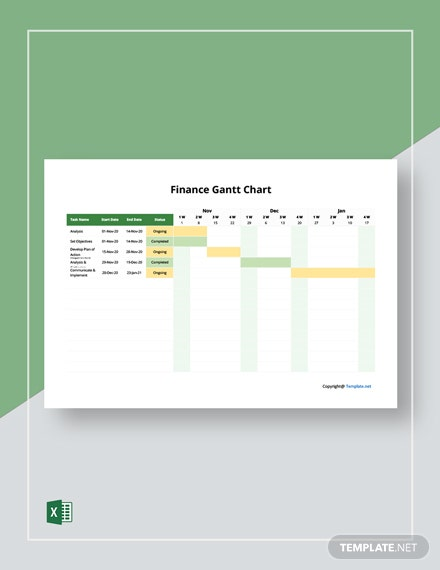 Free Simple Finance Gantt Chart Template