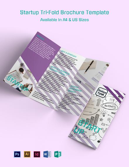 Startup Tri-Fold Brochure Template