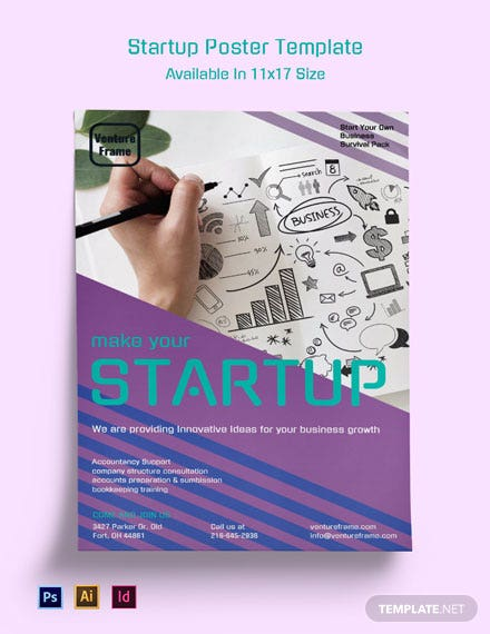 Free Startup Poster Template
