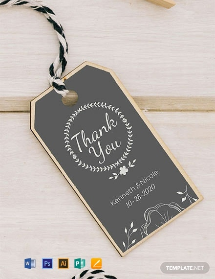 Free Wedding Favor Tag Template