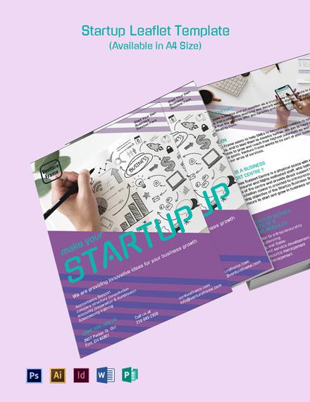Startup Leaflet Template