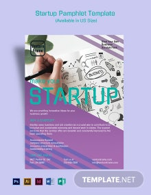 Startup Pamphlet Template