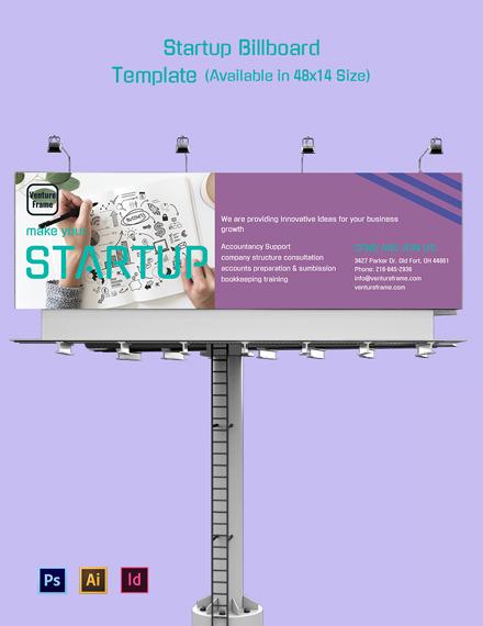 Startup Billboard Template