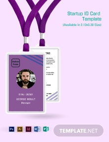 Startup ID Card Template