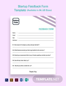 Startup Feedback Form Template