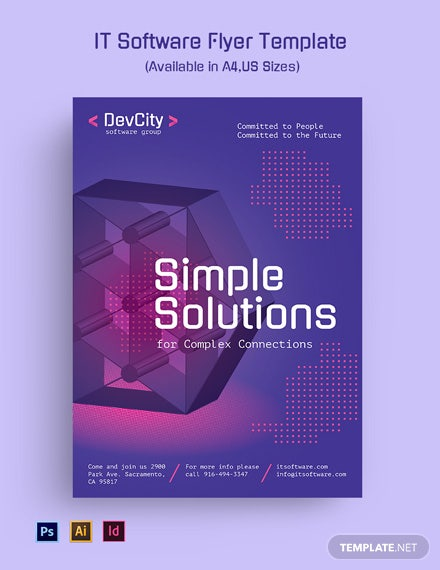 It Software Flyer Template