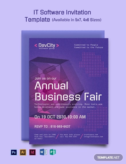 It Software Invitation Template