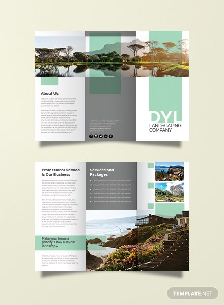 landscape brochure template - free brochure templates download ready made
