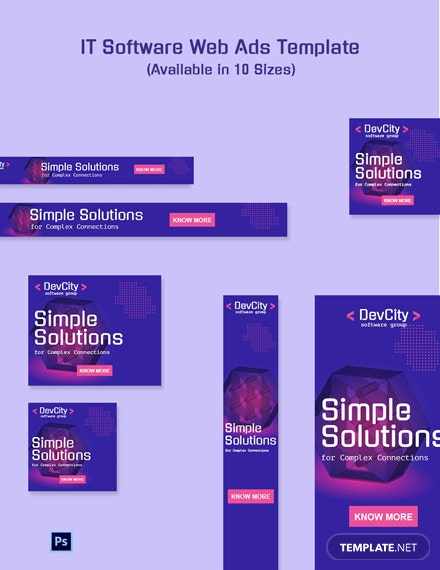 Free It Software Web Ads Template