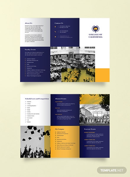 Free brochure templates download ready made for College brochure templates free download