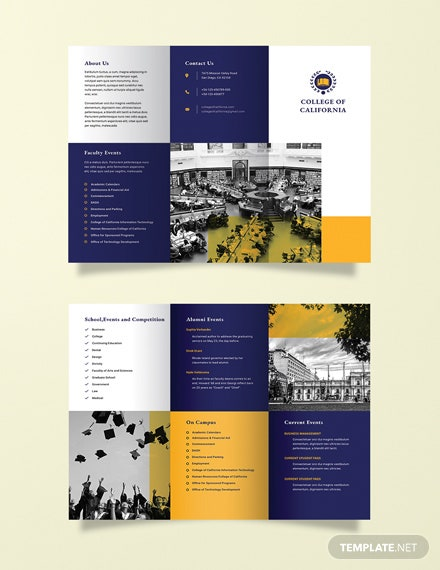 free college event brochure template download 151 brochures in psd