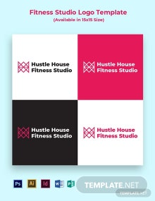 Fitness Studio Logo Template