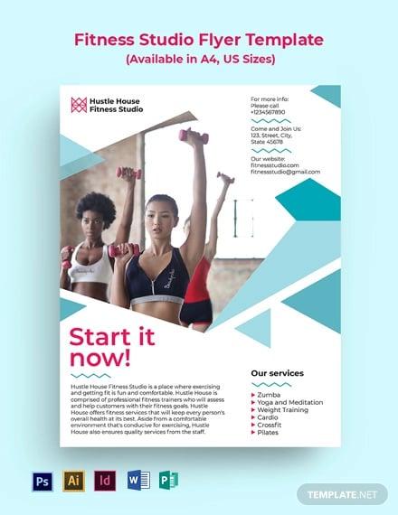 Fitness Studio Flyer Template
