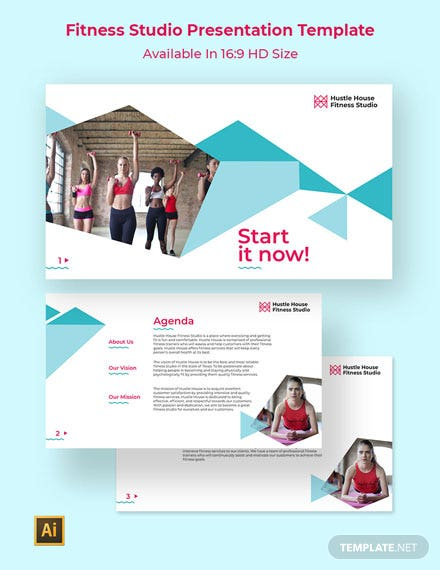 Fitness Studio Presentation Template