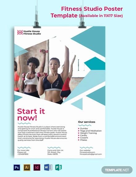 Fitness Studio Poster Template
