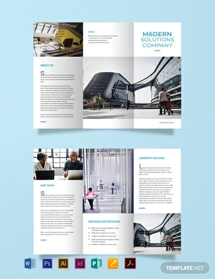 Modern Company Brochure Template [Free Publisher] - Illustrator, InDesign, Word, Apple Pages, PSD, PDF
