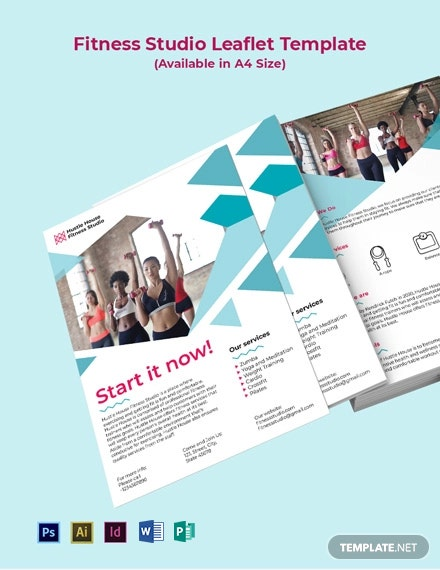 Fitness Studio Leaflet Template