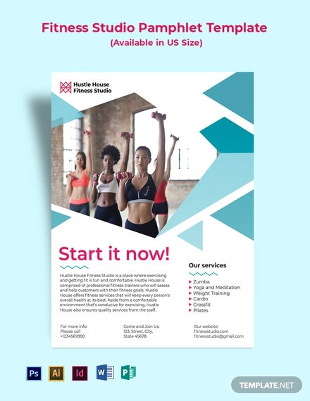 Fitness Studio Pamphlet Template