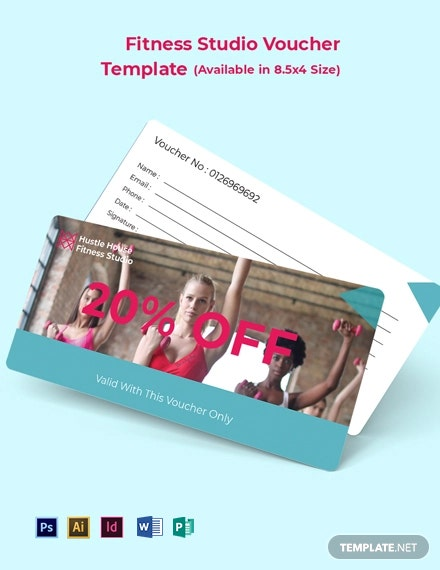 Free Fitness Studio Voucher Template