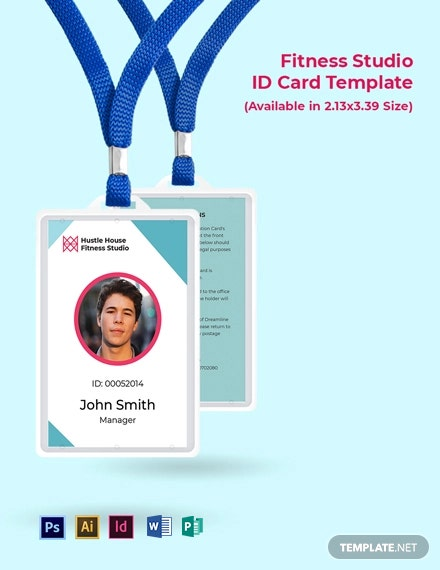 Fitness Studio ID Card Template