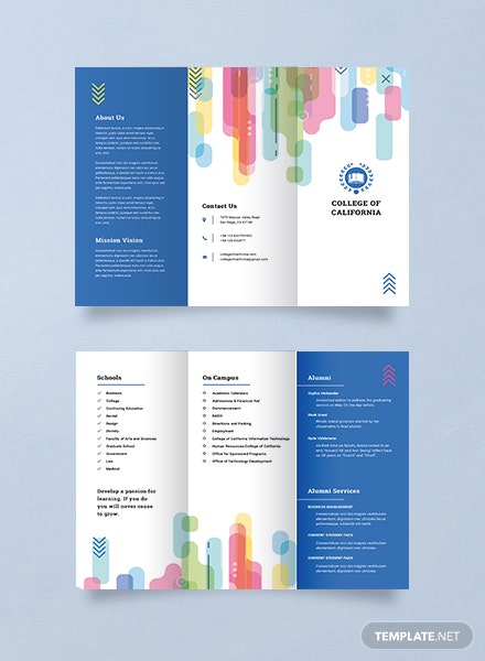 Modern college brochure template download 151 brochures for College brochure templates free download
