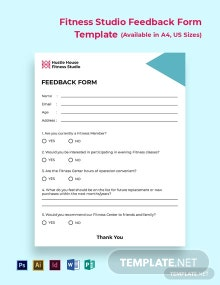 Free Fitness Studio Feedback Form Template