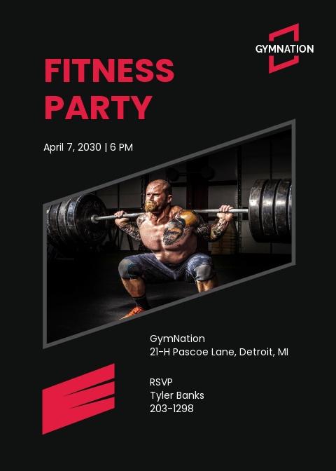 Gym Invitation Template