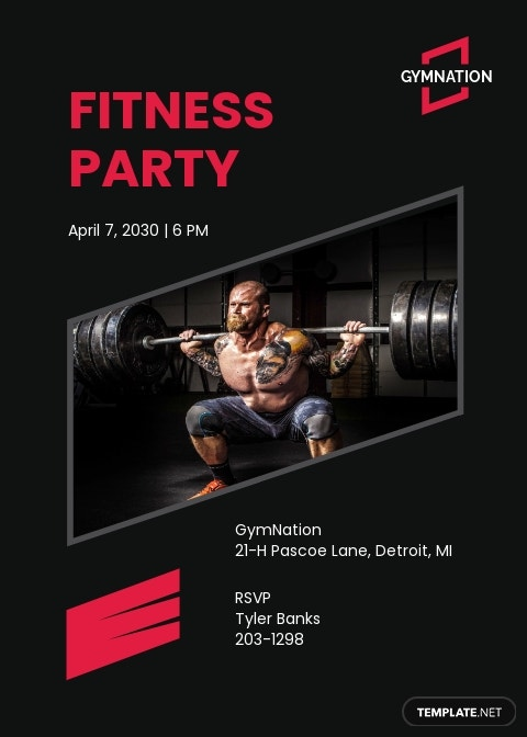 Gym Invitation Template