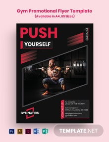 Gym Promotional Flyer Template