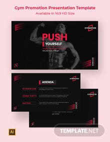 Gym Promotion Presentation Template