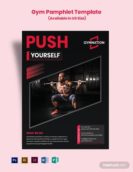 Free Gym Pamphlet Template