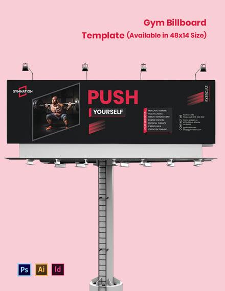 Gym Billboard Template