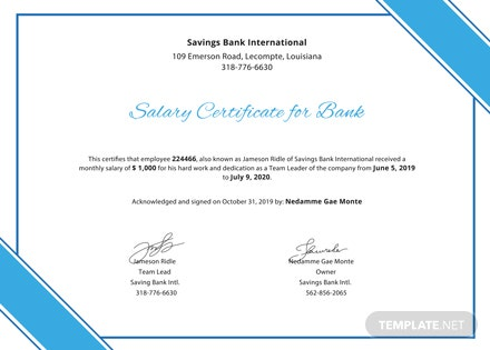 Salary certificate for bank template download 200 certificates in salary certificate for bank template salary certificate for bank template altavistaventures Images