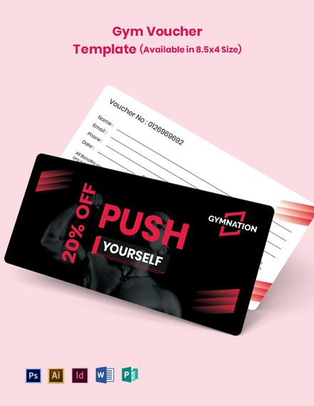 Gym Membership Voucher Template