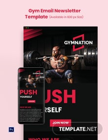 Gym Email Newsletter Template