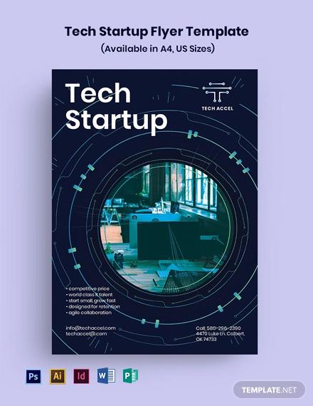 Tech Startup Flyer Template
