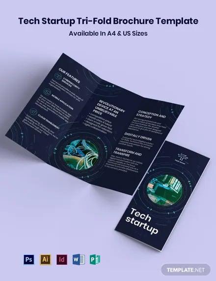 Tech Startup TriFold Brochure Template