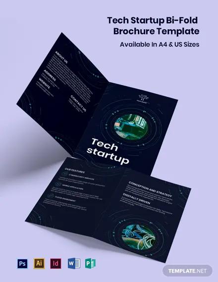 Tech Startup Bi-Fold Brochure Template