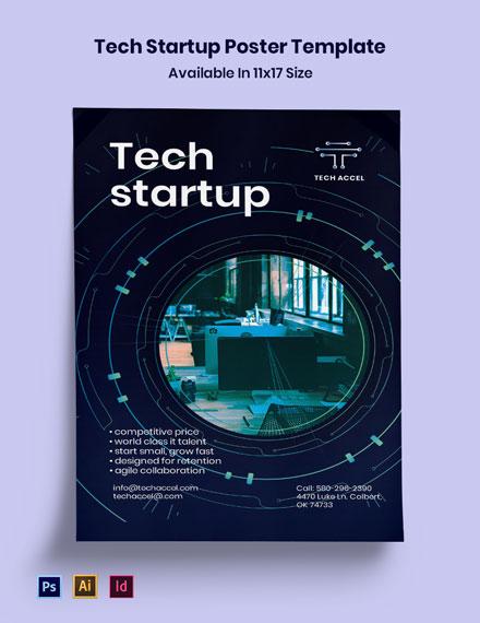 Tech Startup Poster Template