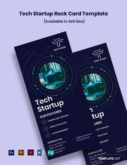 Tech Startup Rack Card Template