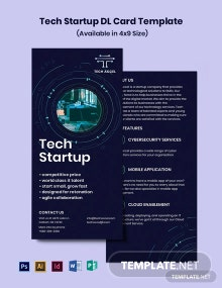 Tech Startup DL Card Template