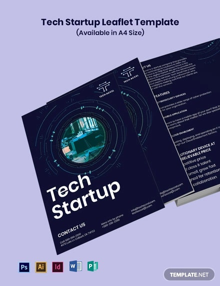 Free Tech Startup Leaflet Template