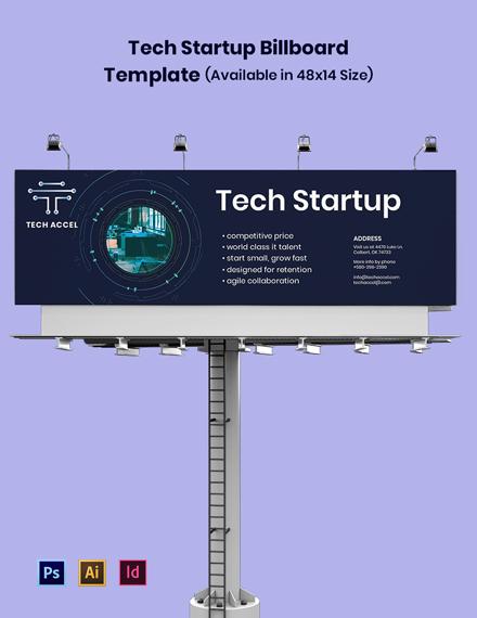 Tech Startup Billboard Template