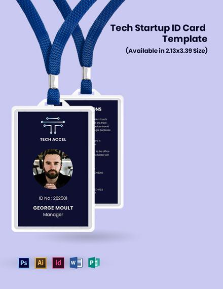 Tech Startup ID Card Template