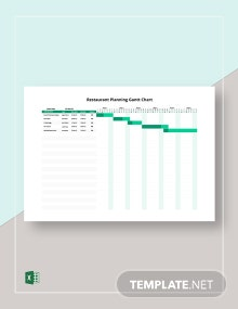 Restaurant Planning Gantt Chart Template